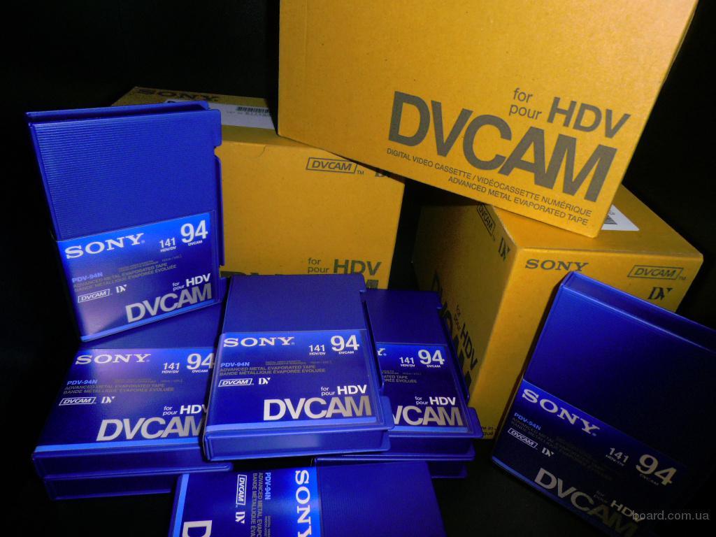 новые кассеты dvcam hdv sony pdv-94n/3 есть 300штук