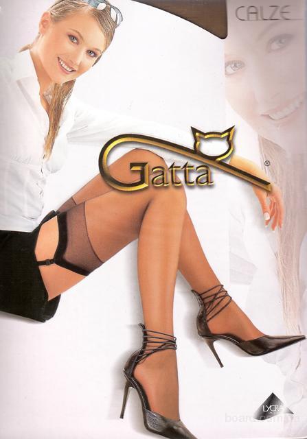 Колготки и чулки оптом, чулки Gatta лайкра (для пояса)