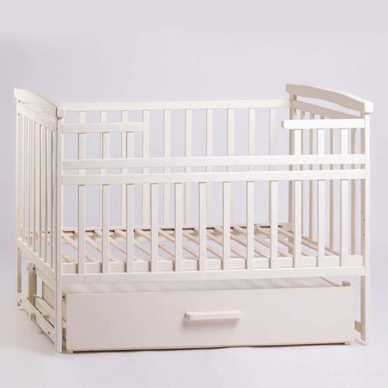 Кроватка Детский Сон с маятником и ящиком