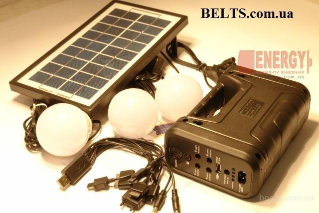 Цина.Аккумуляторный фонарь с солнечной батареей GDLite GD-+8037