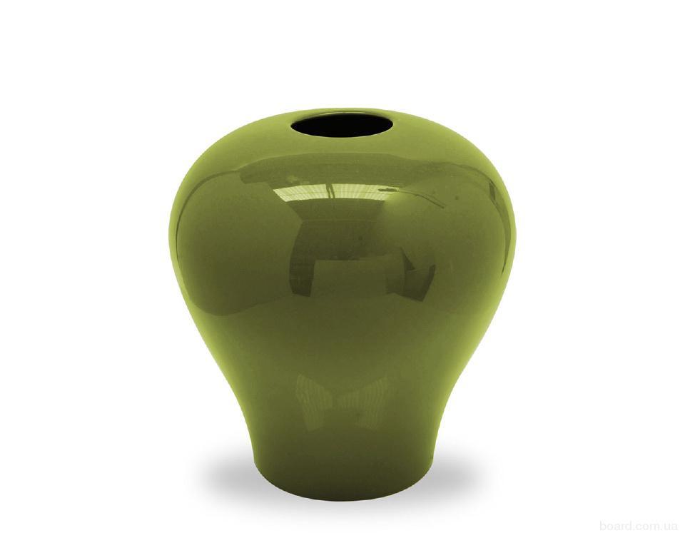 Замечательная итальянская ваза Calligaris Bluma, Ceramic green