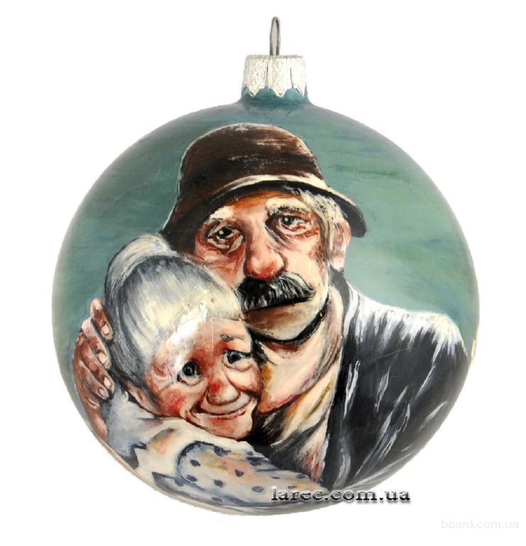 Новогодние шары купить в Киеве. Ёлочные шары ручной росписи