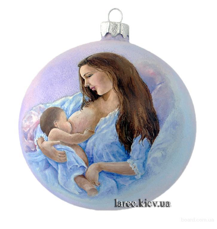 эксклюзивные ёлочные шары для мамы, новогодний подарок в честь рождения ребенка, купить елочный шар