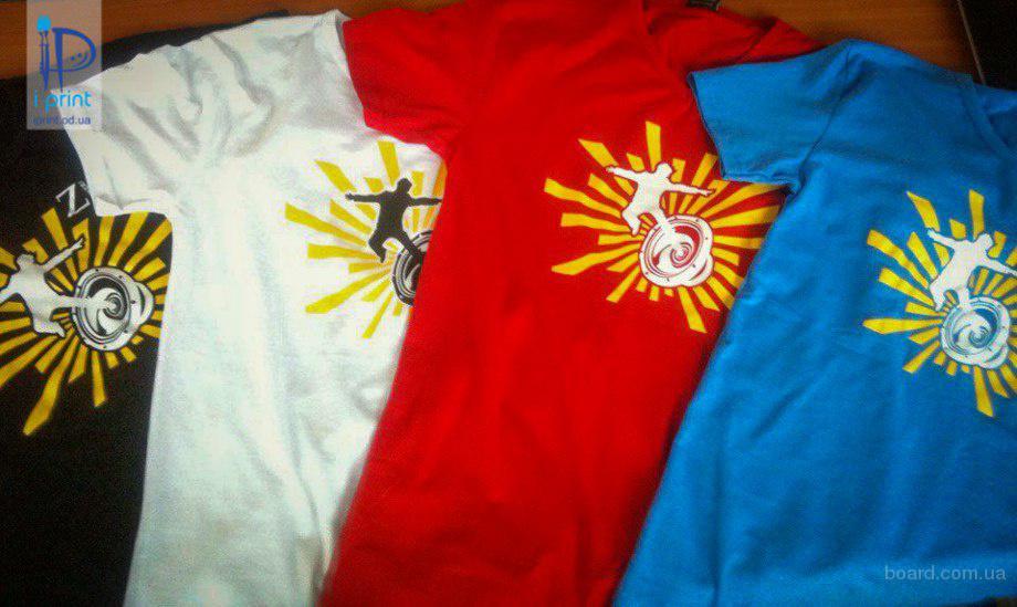 Печать на ткани по всей Украине. Накатка. Печать на футболках. Печать на крое и готовом изделии.