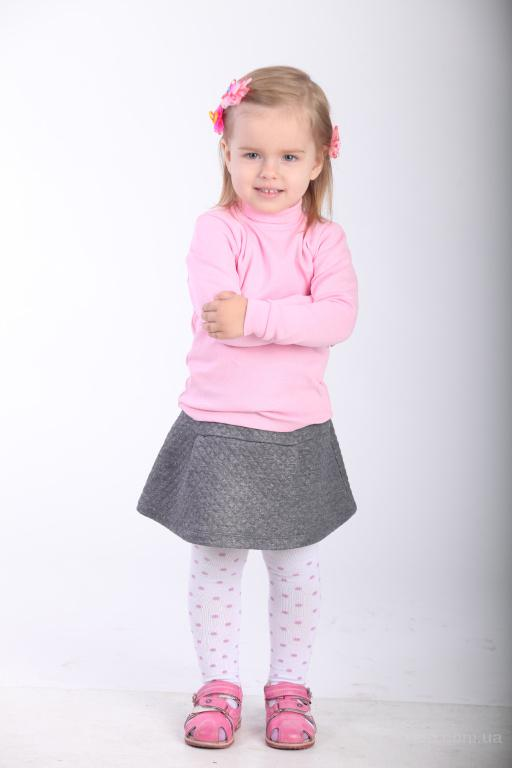 Детская одежда, Гольф для девочки с высоким горлом и манжетами на рукавах от Berry Wear