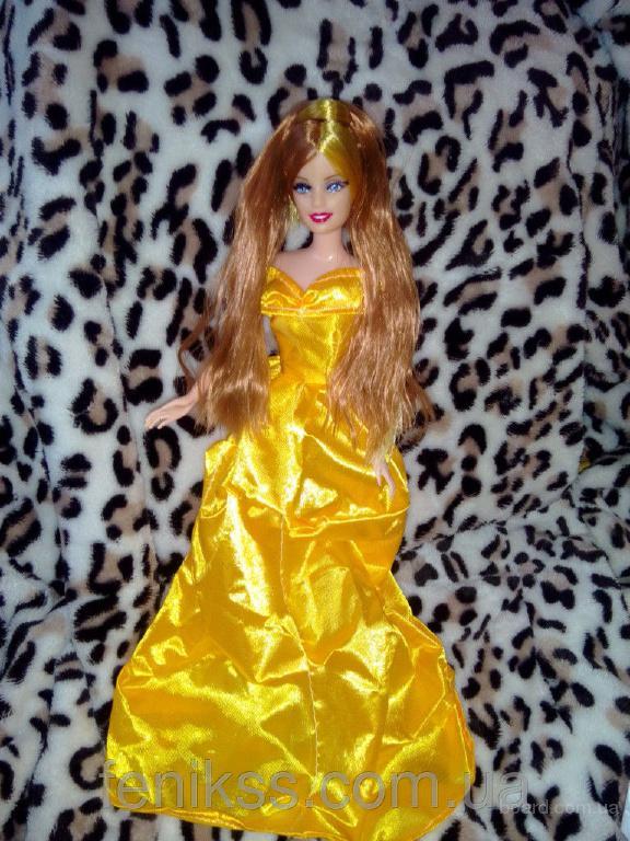 Кукла барби в желтом платье