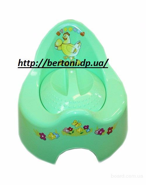 Горшок детский Курочка с крышкой TG-018