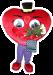 Ростовая кукла Сердце- оригинальное поздравление. Удивит и вручит подарок.