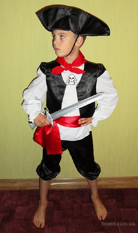Карнавальный костюм Пирата Джека Воробъя на 5-9 лет.