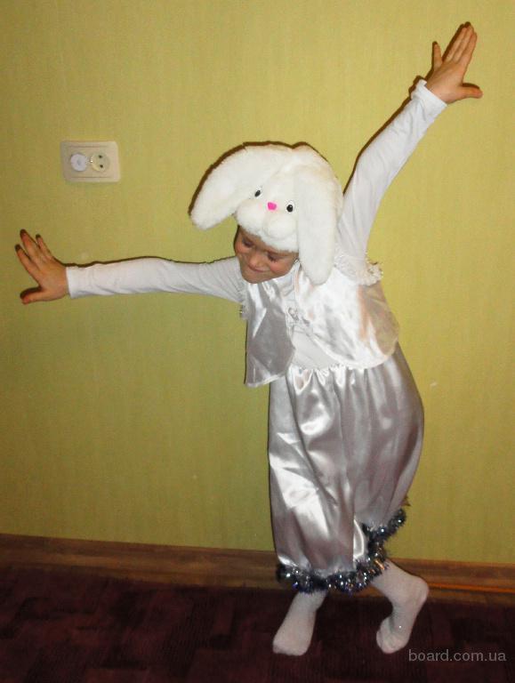 Прокат костюма Зайчика на 4-6 лет.