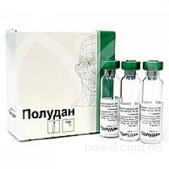 Продам лекарственный препарат Полудан леофилизат для приготовления глазных капель 3 флакона по 100 ЕД  (продам)