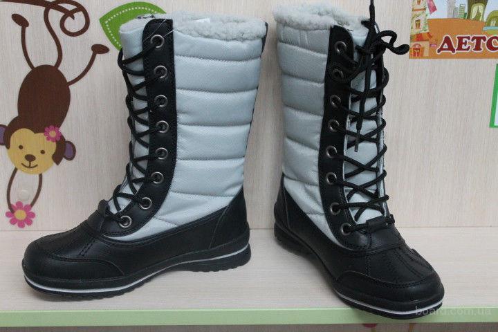 Высокие термосапоги подростковая зимняя обувь, раз 31,32,33,3435, 36