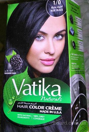 Краска для волос Глубокий Черный №1 / 0 Vatika Naturals,100 мл, Дабур