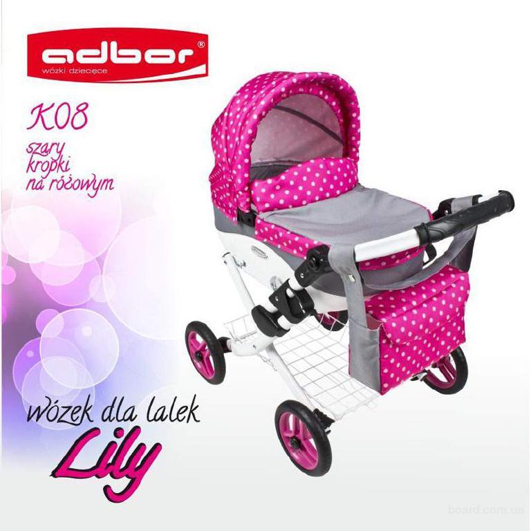 Детская коляска для куклы Adbor Lily