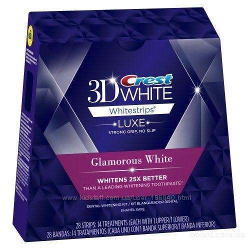 Супер отбеливающие полоски Crest 3D White Luxe Whitestrips Glamorous White
