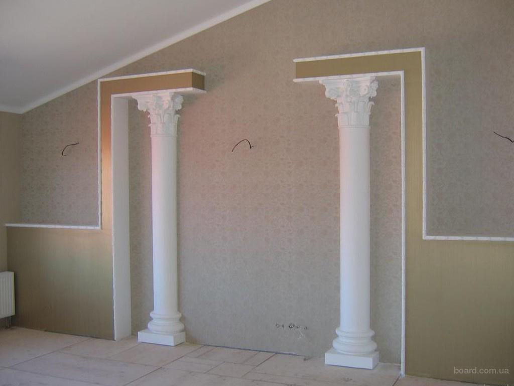 Как сделать в доме колонну