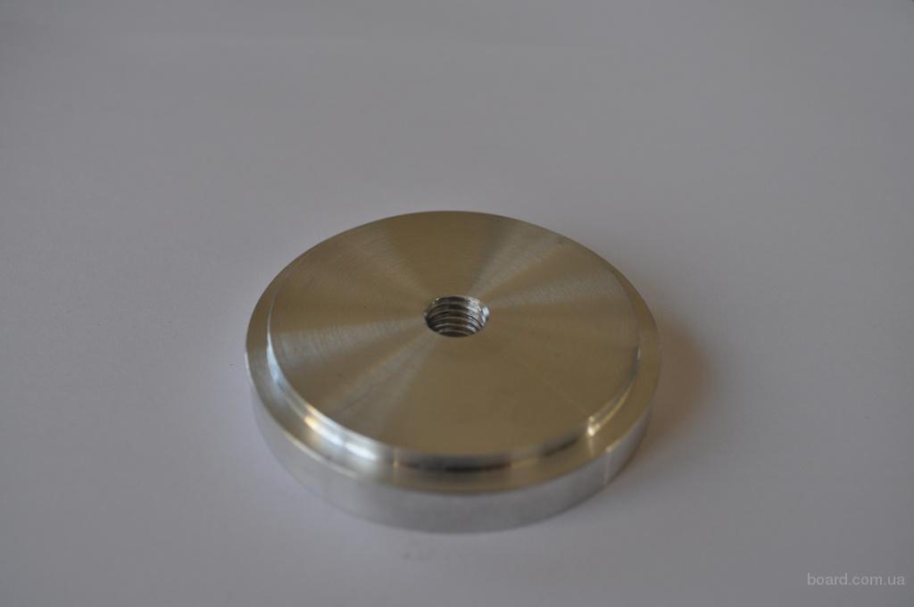 Шайба алюминиевая под клейку УФ клея D = 60 мм М10