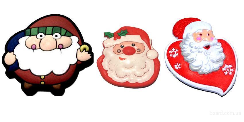 Новогодние магниты Дед Мороз, Санта Клаус, Николайчики