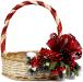 Корзина с новогодним декором для подарков и поздравлений