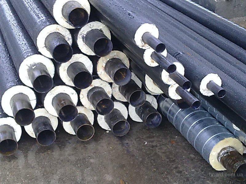 Трубы теплоизолированные стальные в пэ оболочке 32х90