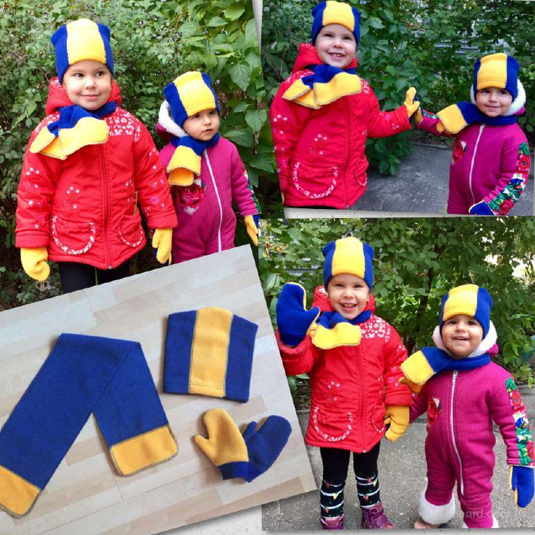 Комплект детский шапочка+шарф+рукавички