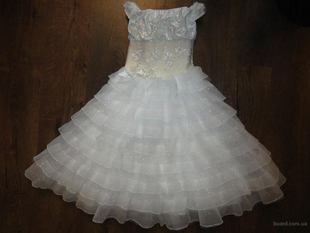 Карнавальное платье Принцессы, Снежной королевы на 128-146р.