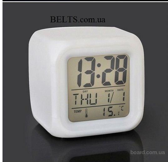 Украина/Электронные настольные часы с подсветкой LED Color Change (часы Колор чендж)