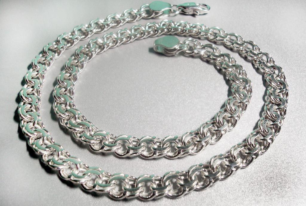 Серебряные цепочки бисмарк мужские цены