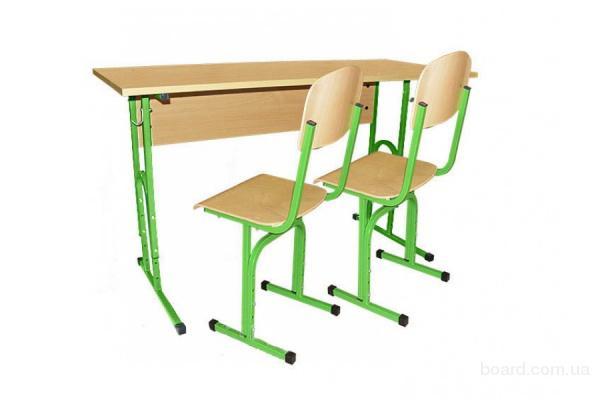 Школьная мебель – парта школьная, парты школьные, комплект аудиторный 2-местный, регулируемая высота,