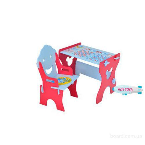 Парта детская красно-голубая W 015-1 Фиксики