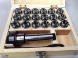 Цанговый патрон ER32 МК4 (MT4) с комплектом цанг 3-20 мм (ER32), 18 цанг в комплекте