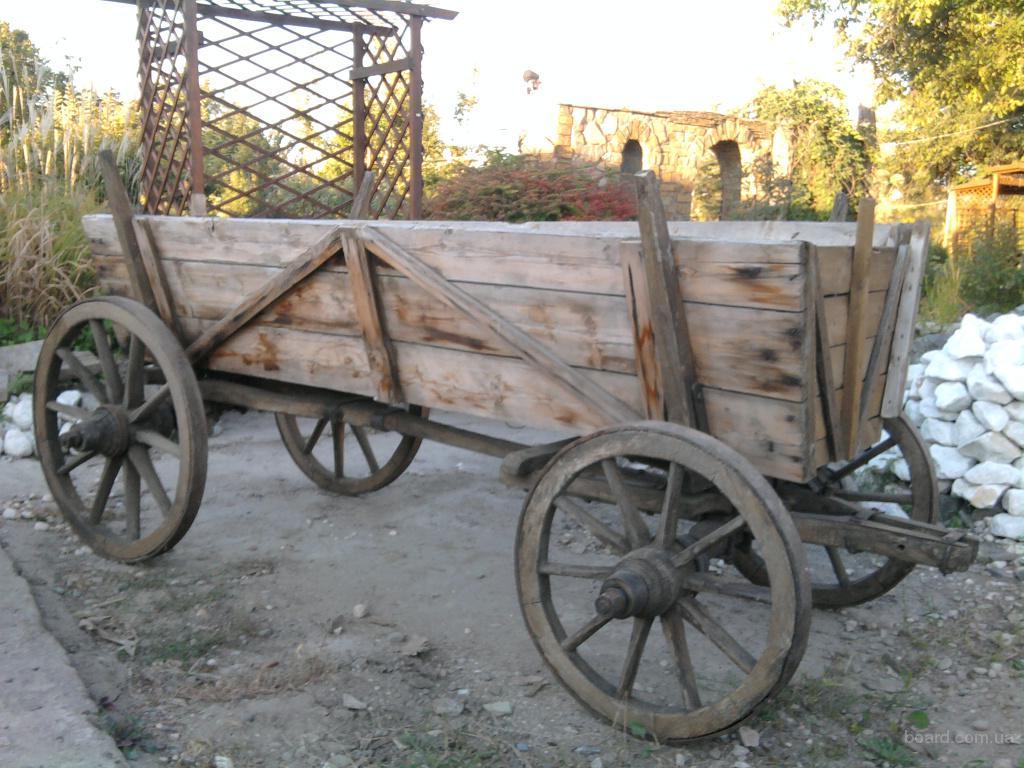 Настоящая деревенская телега (раритет)