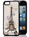 3D Чехол пластиковый Paris для iPhone 5G 5S