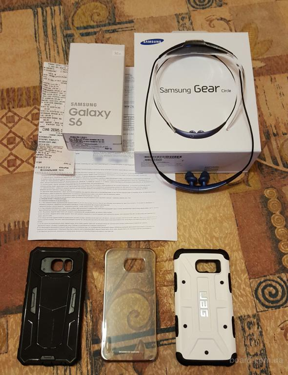 Продам Samsung G920F Galaxy S6 DUOS 32GB (White Pearl)