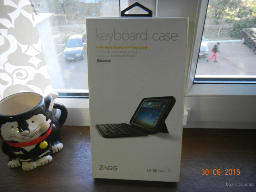Чехол Zagg Leather Folio с Bluetooth Keyboard для  планшета Lg G Pad 8.3