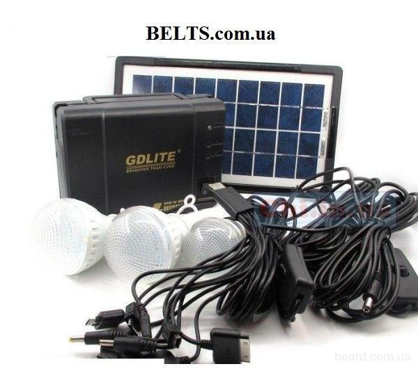 Купить.Солнечный набор (Лампа-фонарь с аккумулятором), солнечная система