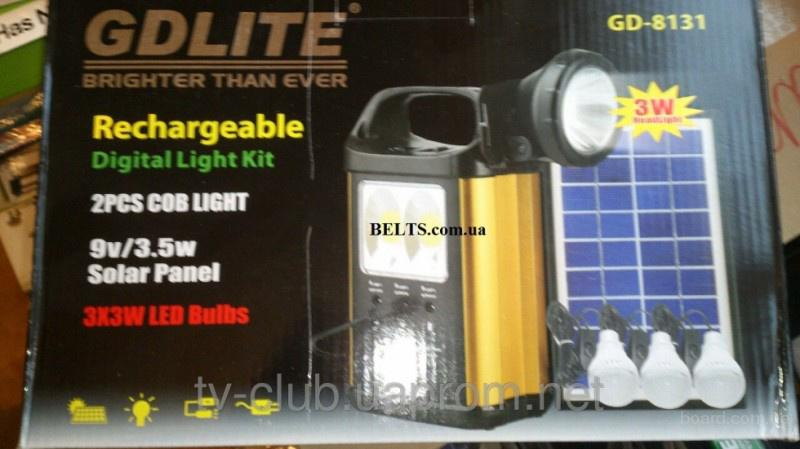 Продам.Портативный фонарь с солнечной батареей и 3 лампочками