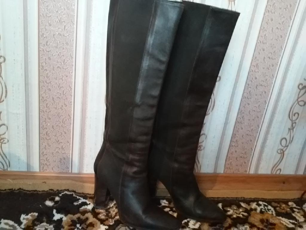 Итальянские кожаные сапоги Vero Cuoio 38р