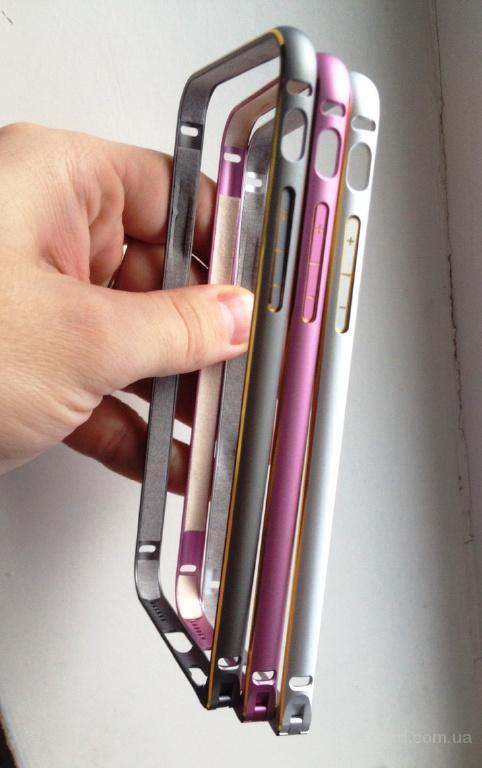 Бампер чехол алюминиевый 0, 8мм для iPhone 6/6S