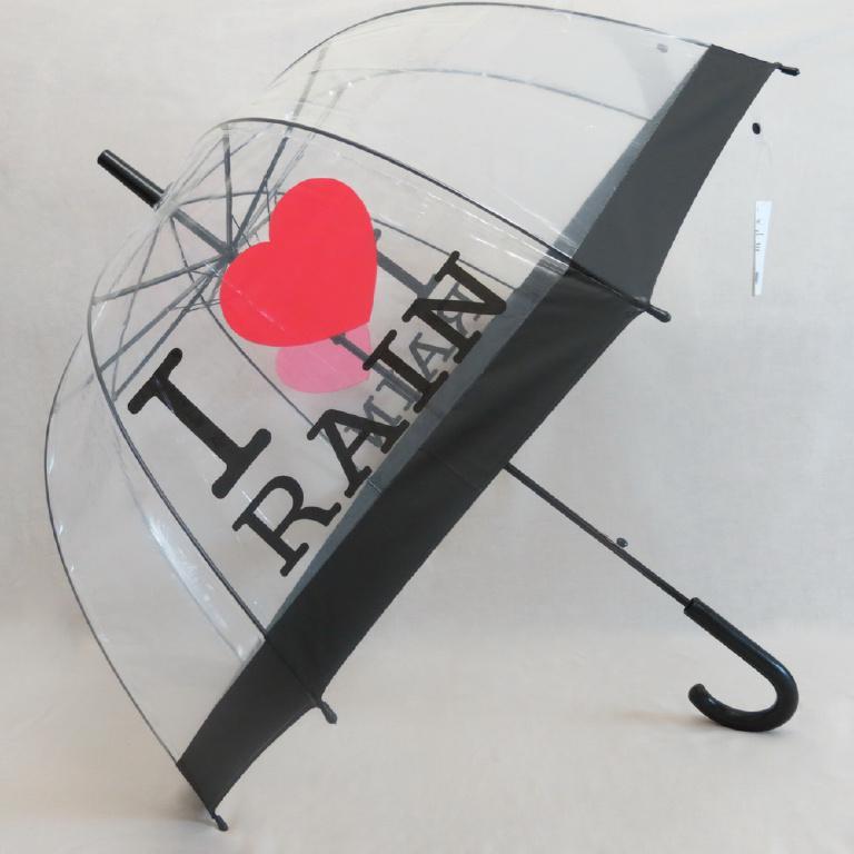 Зонтики прозрачные с глубоким куполом, 3 вида.