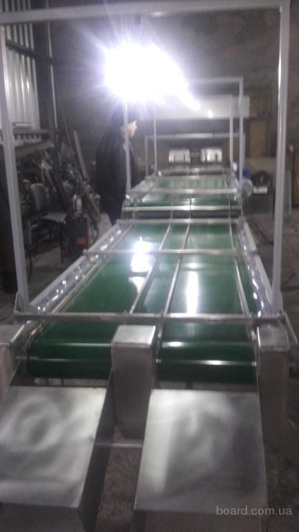 Інспекційний стіл двухрівневий для сортування грецького горіха