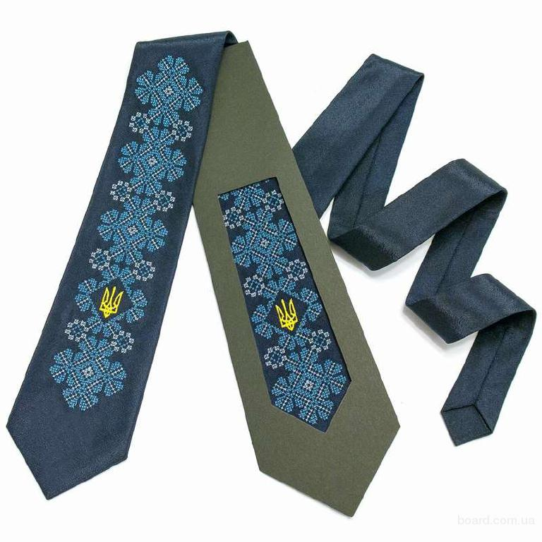 """Краватка з вишивкою """"Києслав"""""""