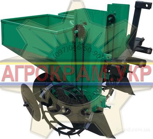 Мини сажалка картошки КСН-2Т 90л для минитрактора