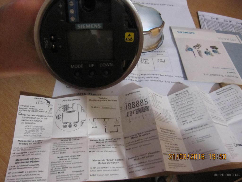 Датчик давления Sitrans P 300ex 7MF8023 0-100kПа