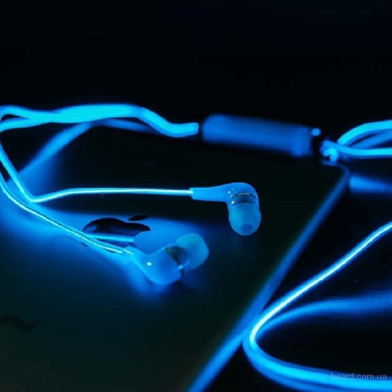 Светящиеся наушники «glow»