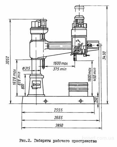Радиально-сверлильный 2А554.