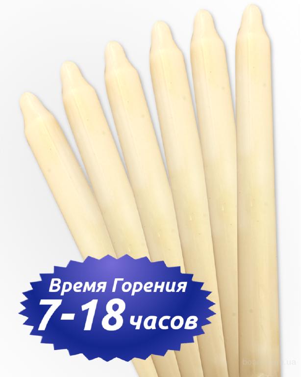 Хозяйственные свечи Украина. Парафиновые свечи оптом
