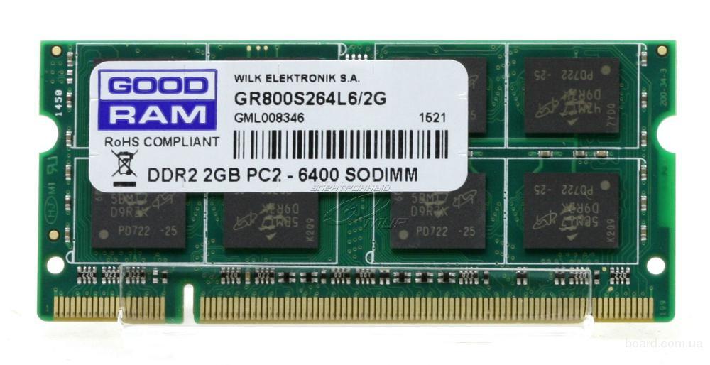 Новая память для ноутбука Sodimm DDR2 2Gb 667 - 800 Mhz Samsung Hynix