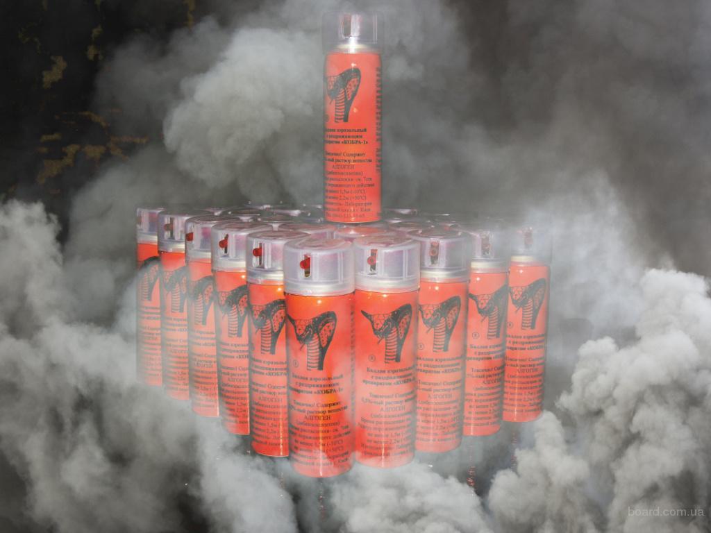 Мощное средство для активной обороны газовые баллрны кобра-1