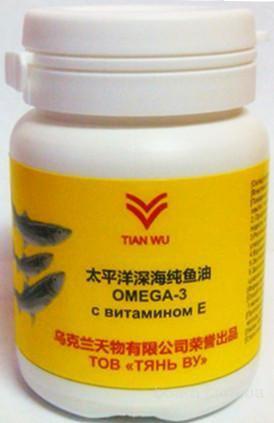 Omega-3 с витамином Е компании Тянь Ву. Омега 3 Тяньву. 200грн